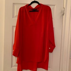 Eloquii long sleeve red top